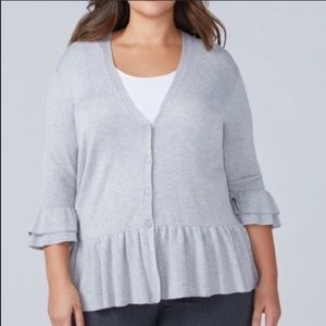 Lany Bryant cardigan with ruffles